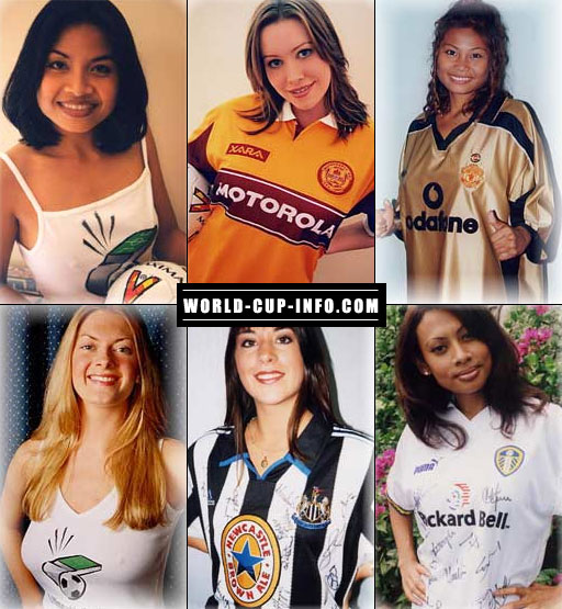 A Collage Of English Premier League Soccer Girls